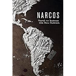 """Póster Narcos """"There's No Business Like Blow Business"""" (61cm x 91,5cm) + embalaje para regalo"""