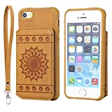 DENDICO Coque iPhone 5 / 5s / Se, Ultra Fine Housse en Cuir pour Apple iPhone 5 / 5s...