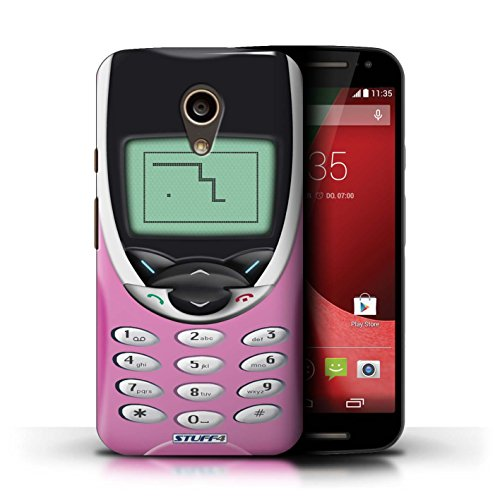 Kobalt® Imprimé Etui / Coque pour Motorola Moto G (2014) / Nokia 3310 blanc conception / Série Portables rétro Nokia 8210 rose