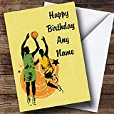 Best Basketball Cards - Yellow Basketball Players Personalised Birthday Card Review