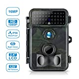 Wildkamera 16M 1080P HD Tvird Wildkamera Fotofalle mit 125°Weitwinkel Infrarote 20m Nachtsicht, 42 IR LEDs, Wasserdichte IP66 Jagdkamera mit Bewegungsmelder