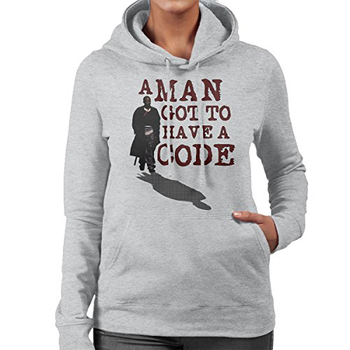 A Man Got To Have A Code Omar The Wire Women s Hooded Sweatshirt Heather  Grey 310fae46211c