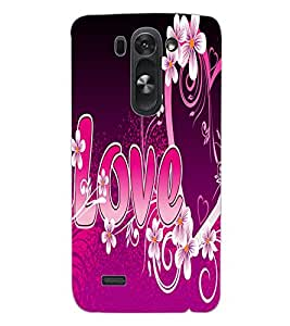 ColourCraft Love Quote Design Back Case Cover for LG G3 BEAT