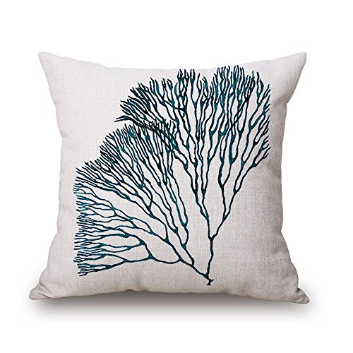 "Milesky Thick Square Decorative Throw Pillow Case 18x18"", Approx. 190g, Series I (Float Grass B)"