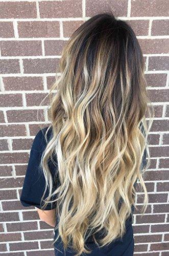Devalook Haarverlängerung, Wavy/Curly, , Dunkelbraun bis Sandblond (Halloween Hair Extensions)