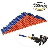 ULTNICE 200pcs espuma suave dardos recarga bala Blasters para Nerf N-strike Elite serie niños juguete pistola azul