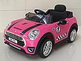 Babycar 198P–Voiture Électrique Pour Enfants Mini Cabriolet Full Option avec télécommande, 12volts, Rose