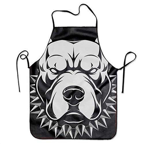 SHALLY Men Aprons Adult Angry Dog Cooking Gift Kitchen BBQ