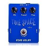 fitTek® Caline CP-17 Delay Verzögerung E-Gitarre Effektgerät Stereo Grau Zeit
