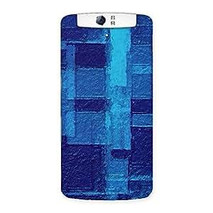 Gorgeous Premier Blue Pattern Back Case Cover for Oppo N1