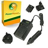 PowerPlanet Sanyo DB-L80 Chargeur de batterie rapide avec écran LCD (comprend l'adaptateur pour automobile et les prises EU et GB, USA) pour Sanyo VPC-X1200, VPC-X1220, VPC-X1250, VPC-X1400, VPC-X1420