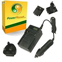 PowerPlanet Sanyo DB-L80 Chargeur de batterie rapide avec écran LCD (comprend l'adaptateur pour automobile et les prises EU et GB, USA) pour Sanyo VPC-CA100, VPC-CA102, VPC-CG10, VPC-CG11, VPC-CG20, VPC-CG21, VPC-CG22, VPC-CG88, VPC-CG100, VPC-CG102