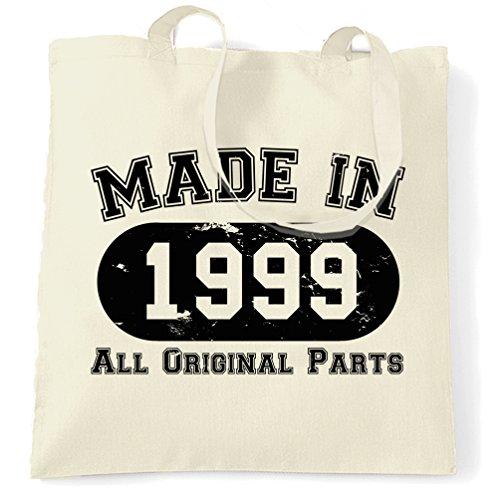 Borsa Di Compleanno Fatta Nel 1999 Tutte Le Parti Originali (design Distressed) Naturale