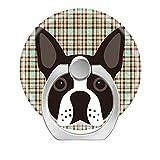 zoyaley-Phone Finger Ring Halter Ständer für Smartphone Tablet und Handy Auto Mount-Boston Terrier Welpe Hund Tartan Plaid