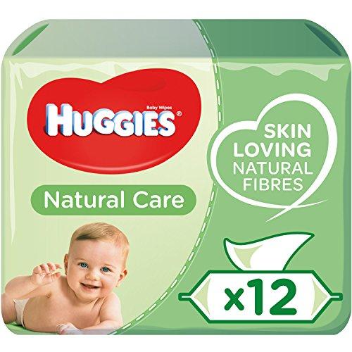 Huggies Natural Care Toallitas para Bebé - Paquetes de 12 x 56 toallitas - Total: 672 toallitas húmedas