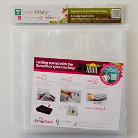 Totally Tiffany, espandibile, Planner pagine, in materiale sintetico, colore: trasparente, confezione da 5