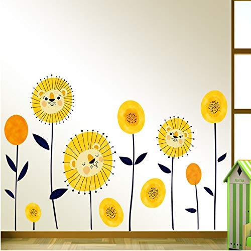 r für Schlafzimmer Wohnzimmer Mädchen Junge Küche - Niedlicher Cartoon Der Tiersonnenblume ()