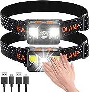 bedee Linterna Frontal LED Recargable, Linterna Cabeza 8 Modos de Iluminación, Linterna Frontal LED Alta Poten