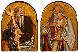 Das Museum-AUSLASS zwei Apostles', tempera- und gold in Blech von Carlo Crivelli, 1470-5, Honolulu Akademie der Künste-Poster (Medium)