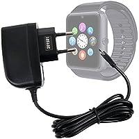 DURAGADGET Cargador (2 Amperios) Para Smartwatch Mobiper G08 - Con Conexión Micro USB Y Enchufe Europeo De Pared - Certificado Por La CE