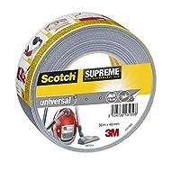 Scotch 4101S50 Gewebeband universal Supreme, extra stark klebend, 48 mm x 50 m, grau