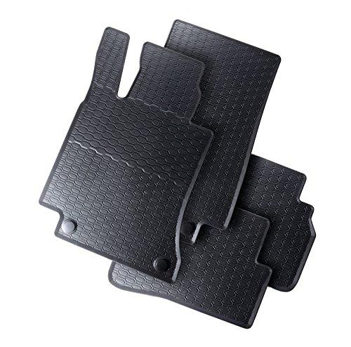 AME - Auto-Gummimatten in schwarz und Wabendesign, Geruch-vermindert und passgenau mit verbauten Befestigungen 851/4C