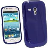 igadgitz Azul Case TPU Gel Funda Cover Carcasa para Samsung Galaxy S3 III Mini I8190 Android Smartphone + Protector de pantalla
