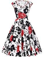 GRACE KARIN®Womens Vintage 50s Floral Print/Polka Dots/Plain Dresses 11Styles