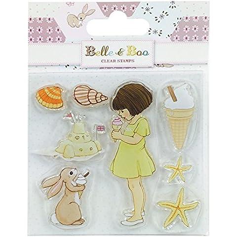 Belle & Boo Juego de sellos de silicona, transparente, diseño de helado, multicolor