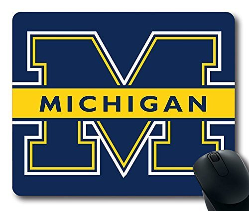 Custom Gaming Mouse Pad with Michigan Wolverines Non-Slip Neoprene Rubber Standard Size 9 Inch(220mm) X 7 Inch(180mm) X 1/8(3mm) Desktop Mousepad Laptop Mousepads Comfortable Computer Mouse Mat Michigan Wolverines-laptop