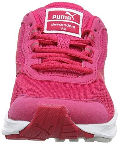 Puma Descendant V3, Scarpe da Corsa Donna Red (Rose Red/Puma Silver/Fluo Peach)