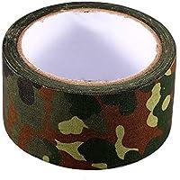 Alomejor Cinta de Camuflaje Cinta Adhesiva biónica Impermeable al Aire Libre de 10 m Rollo de Cinta Adhesiva de Camuflaje elástico(German Spot Camouflage)