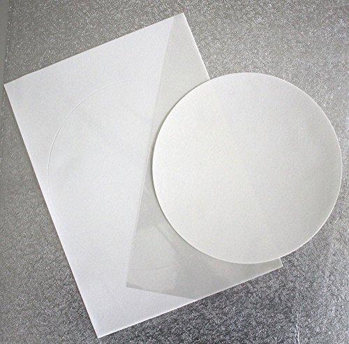 Dekorpapier Plus (DIN A4 / 24 Blatt) bedruckbares Dekorpapier, vorgestanzter 20 cm Kreis