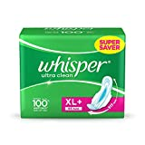 #2: Whisper Ultra Plus Sanitary Pads XL Plus (44 Count)