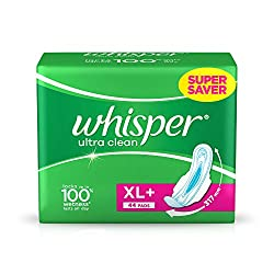 Whisper Ultra Plus Sanitary Pads XL Plus (44 Count)