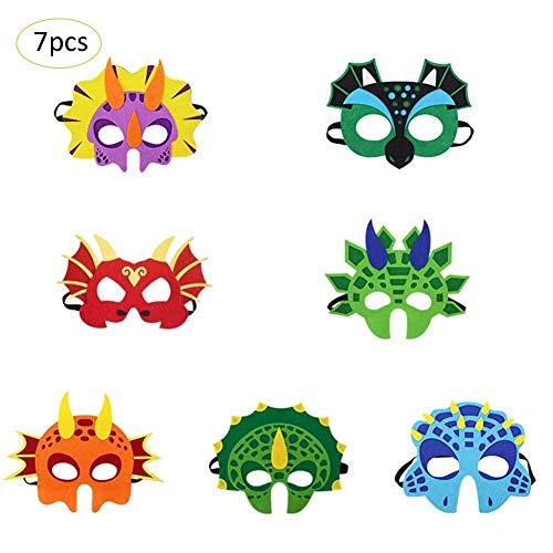 Bloomma 7PCS Dinosaurier Masken Party Favors für Kinder ()