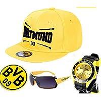TV-24 Dortmund Armbanduhr + CAPI & Sonnenbrille + BVB 09 Borussia Bierdeckel