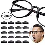 Reccisokz Neuspads, 12 paar, antislip, siliconen brilpads voor glazen zonnebril, bril