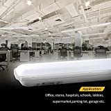 J&C Feuchtraumleuchte 60cm 18W LED Tube Deckelampe 4000K Wasserdicht IP65 leuchtröhre AC220V-240V PC Badleuchte 1500LM Kanalbeleuchtung Ra>80 SMD 2835 Wegbeleuchtung für Nassraum Garten Parkplatz