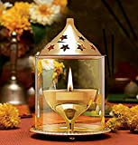 Aarna Craft Akhand Diya | Small Size | For Home or Office Pooja/ Puja | Perfect for Diwali, Dussehra or Dhanteras Gift