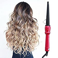 Hair Curling Iron Wand with 0.5 to 0.98 Barrel,Fast Heat-up Hair Curler, Curling Iron Pink