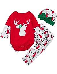 6- 18 mois Bebe Cerf Rouge Noel Pyjama Ensemble et Bonnet