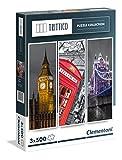 Clementoni 39306.0 - Trittico, 3x500T London, Klassische Puzzle