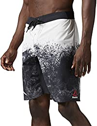 Reebok Splatter Pantalón Corto, Hombre, Negro (Chalk), M