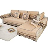SSDLRSF Sofa-Slipcovers Velvet Winter Rutschfestes, gepolstertes Plüschgewebe