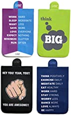 QuoteSutra Laminated Paper with Magnet Rectangle Bookmark Collection for Dreamers, Doers and Entrepreneurs - Multicolour