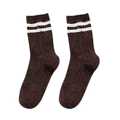 iHAZA Frauen Socken Gold und Silber Thread Herbst und Winter Verdickung Trend Warme Socken -