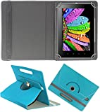 DMP 360 Degree Rotating Leather Flip Case Book Cover With Stand For Samsung Galaxy Tab 3 T311 Tablet – Greenish Blue