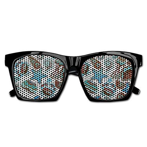EELKKO Mesh Sunglasses Sports Polarized, Illustration of Sea Life Crabs Octopus Shells Starfish and Medusa Print,Fun Props Party Favors Gift Unisex