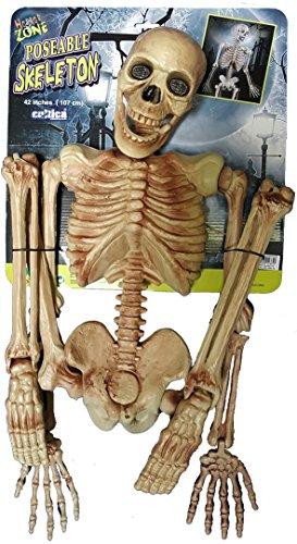 deny10 inc. Horror Skelett Gerippe 1,1 Meter voll plastisch bewegliche Teile Halloween Party Spaß